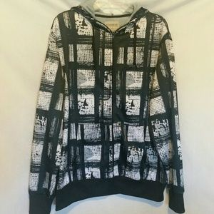 No Boundaries Men's Black Print Jacket Size M